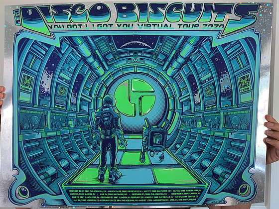 The Disco Biscuits Poster Galaxy Foil