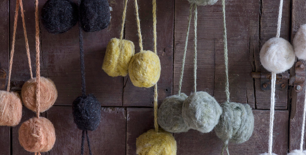 LRPT - Par de Tulmas de lana grandes