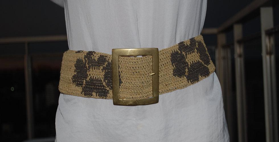 CHCA-M2 - Cinturón Chaguar con hebilla en bronce