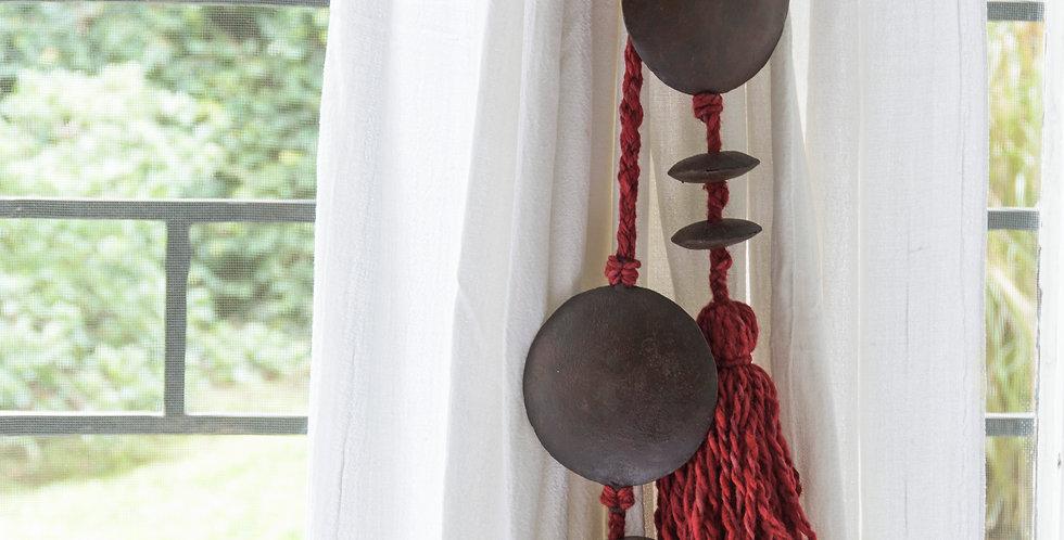 LLL-BORLA - Par de agarraderas para paños de cortina.