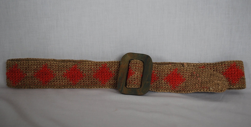 CH5-M1- Cinturón Chaguar con hebilla en palo santo (2-4 cm. ancho)