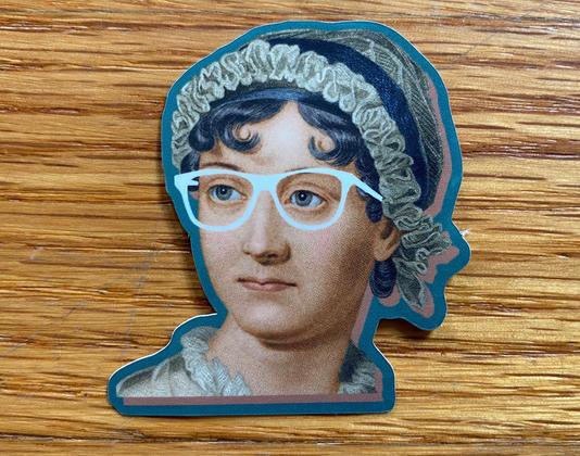 Jane Austen Face Sticker
