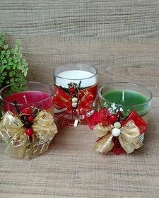VELAS DECORADAS NATAL