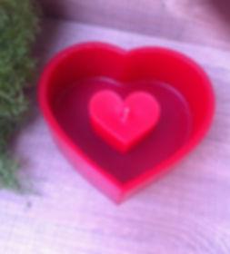 Vela luminária coração