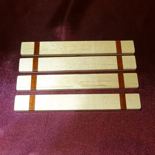 Maple with Padouk inlay Casting Sticks