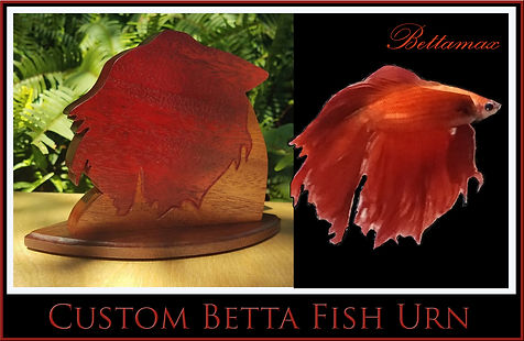 Custom Betta Fish funeral urn