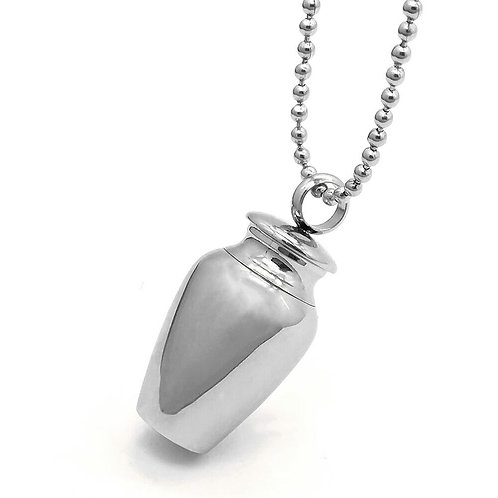 Urn Shaped Cremation Jewelry Pendant Necklace