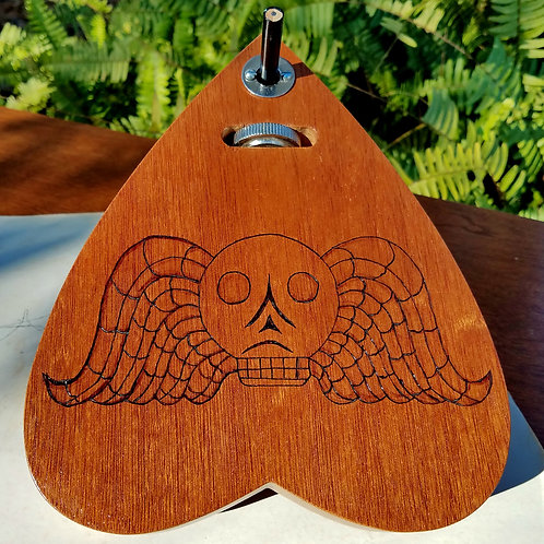 Mahogany Death's Head Automatic Writing Planchette
