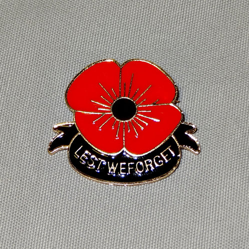 Lest We Forget Poppy Pin