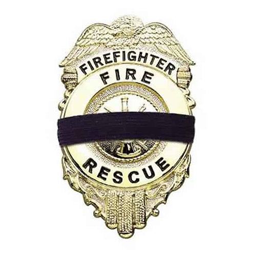 First Responder Badge Mourning Band