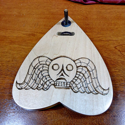 Hard Maple Death's Head Automatic Writing Planchette No.9
