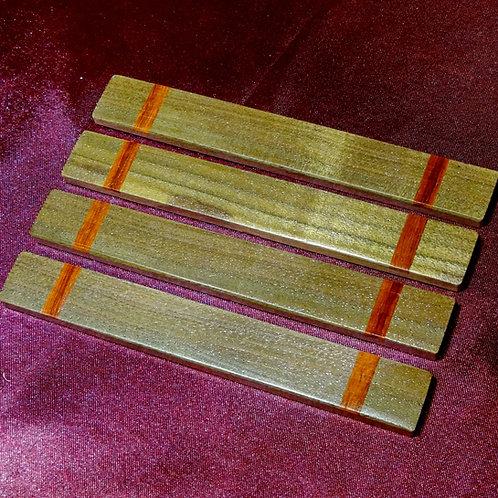 Walnut with Padouk inlay Casting Sticks
