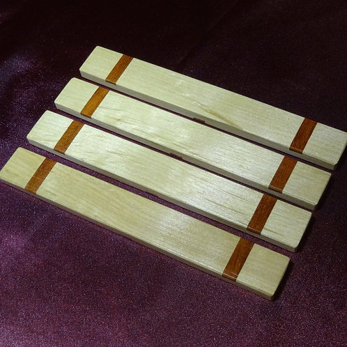 Alder with Sapele inlay Casting Sticks