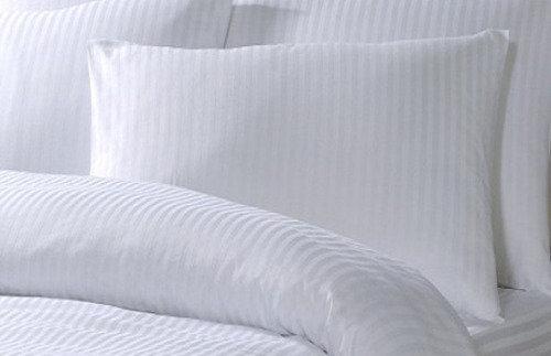 Μαξιλαροθήκη Cotton Ρίγα Σατέν Λευκή 240tc