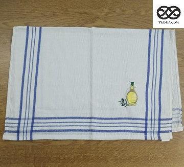Πετσέτες Κουζίνας πικέ με κεντητό σχέδιο  50 χ 70