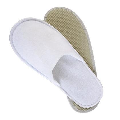 Λευκές Παντόφλες μιας χρήσης Πετσετέ με  σόλα 4mm