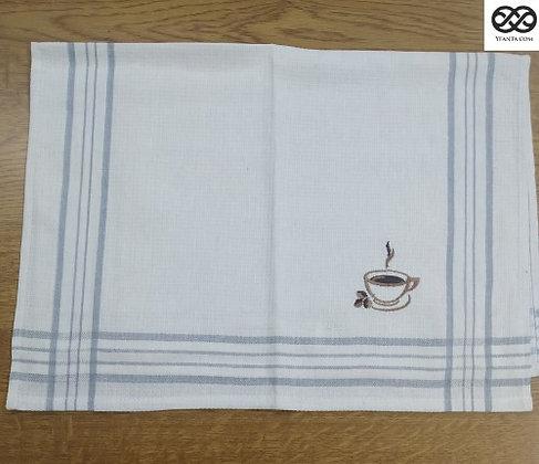 Πετσέτες Κουζίνας πικέ με κεντητό σχέδιο  50 χ 70 .