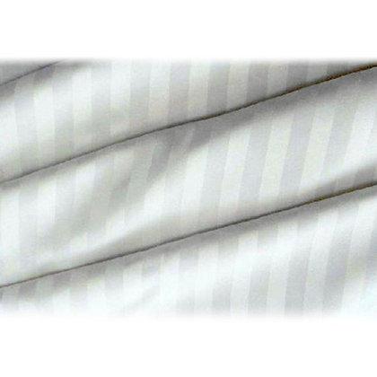 Σεντόνια  Cotton Ρίγα Σατέν Λευκά 300TC .