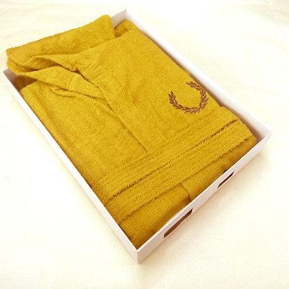 Μπουρνούζι Μονόχρωμο ΆΑ με Κέντημα Σε Κουτί