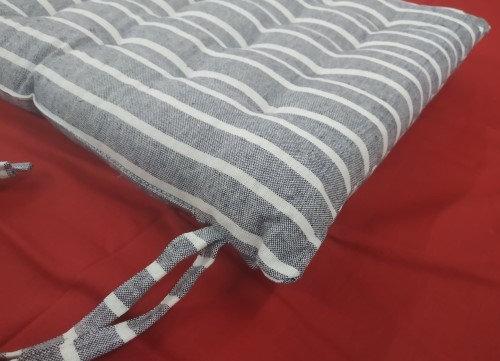 Μαξιλάρι Καθίσματος Βαμβακερό Ριγέ.