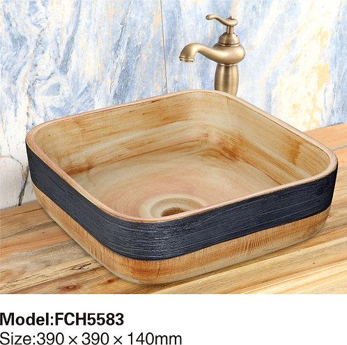 Керамическая накладная раковина Naturflair FCH5583