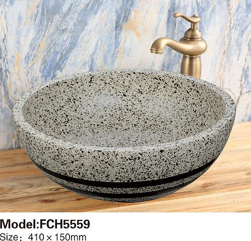 Керамическая накладная раковина Naturflair FCH5559