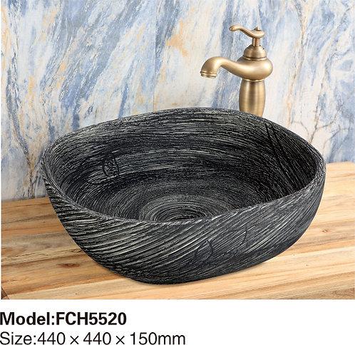 Керамическая накладная раковина Naturflair FCH5520