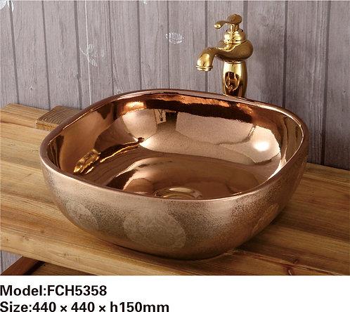 Керамическая накладная раковина Naturflair FCH5358