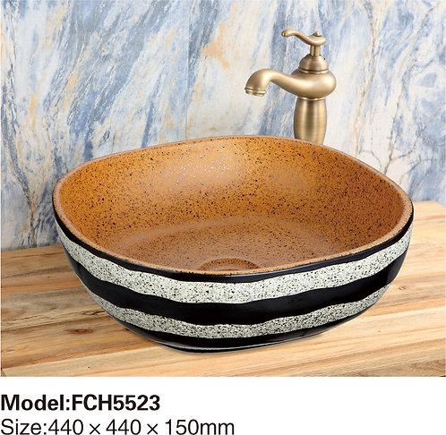 Керамическая накладная раковина Naturflair FCH5523