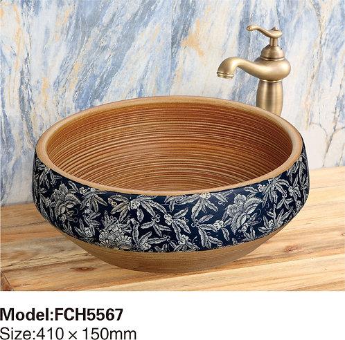 Керамическая накладная раковина Naturflair FCH5567