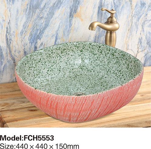 Керамическая накладная раковина Naturflair FCH5553