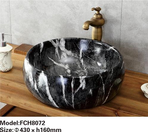 Керамическая накладная раковина с текстурой камня  Naturflair FCH8072