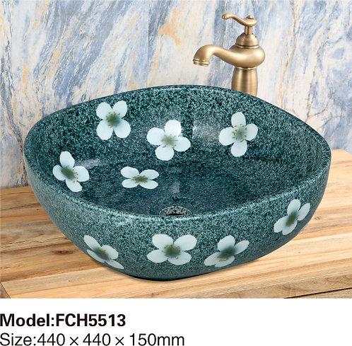Керамическая накладная раковина Naturflair FCH5513