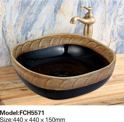 Керамическая накладная раковина Naturflair FCH5571