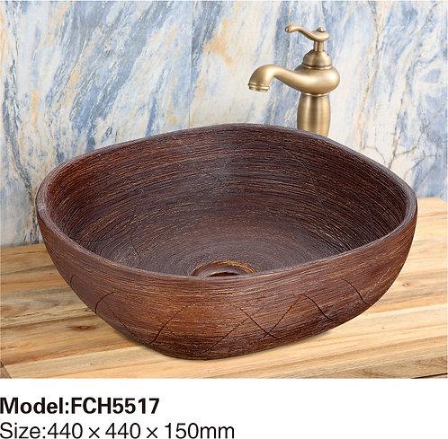 Керамическая накладная раковина Naturflair FCH5517