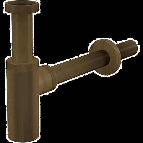 Сифон для умывальника DN32 DESIGN круглый, бронза-антик