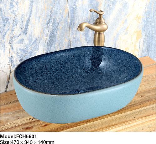 Керамическая накладная раковина Naturflair FCH5601