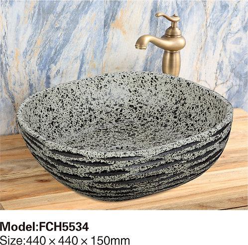 Керамическая накладная раковина Naturflair FCH5537