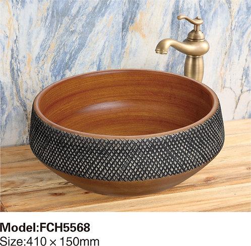 Керамическая накладная раковина Naturflair FCH5568