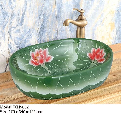Керамическая накладная раковина Naturflair FCH5602