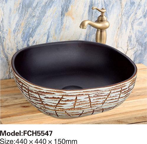 Керамическая накладная раковина Naturflair FCH5547