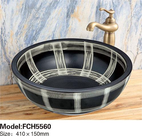 Керамическая накладная раковина Naturflair FCH5560