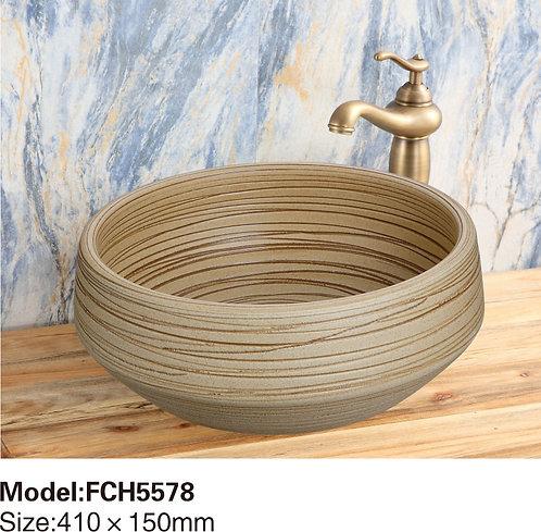 Керамическая накладная раковина Naturflair FCH5578