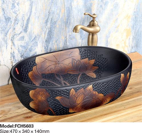 Керамическая накладная раковина Naturflair FCH5603