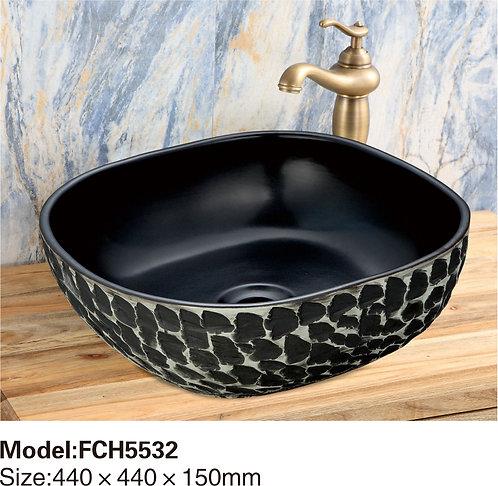 Керамическая накладная раковина Naturflair FCH5533