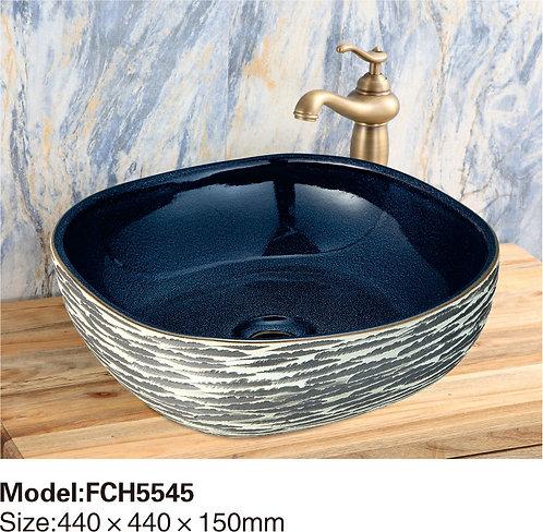 Керамическая накладная раковина Naturflair FCH5545