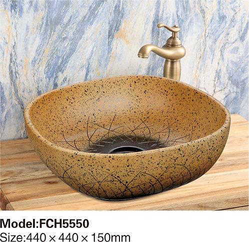 Керамическая накладная раковина Naturflair FCH5551