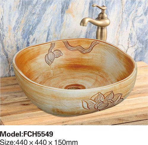 Керамическая накладная раковина Naturflair FCH5549