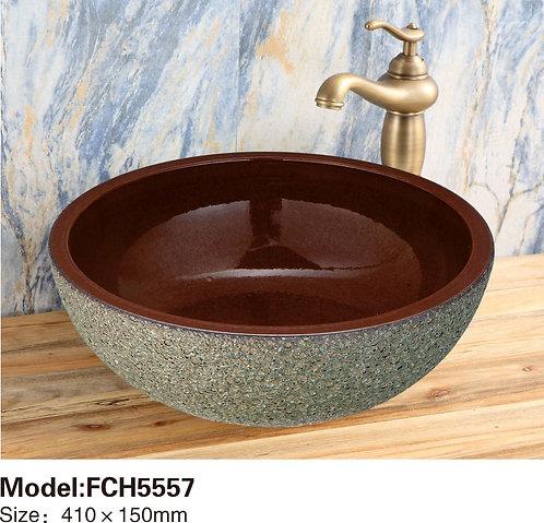 Керамическая накладная раковина Naturflair FCH5557