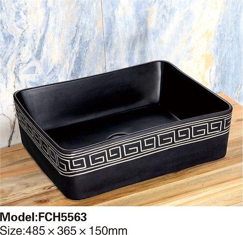 Керамическая накладная раковина Naturflair FCH5563
